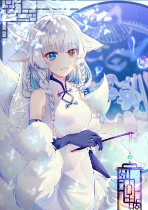 luo_shang_hua,兽耳,汉服,妖狐