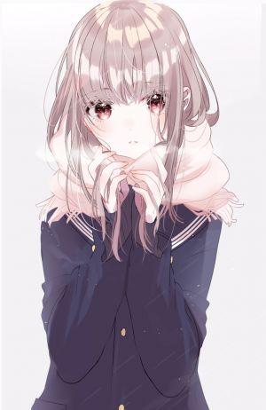 原创,sinsihukunokonaka,长发,single,長身像,脸红,视线正对,前发,红色眼,holding,银发